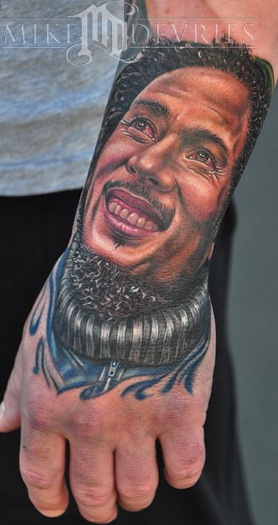 Fabulous Bob Marley Portrait Tattoo For Men