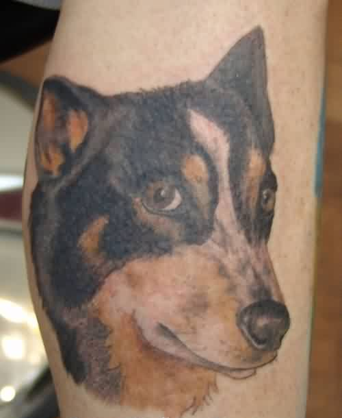 Fabulous Dog Portrait Tattoo