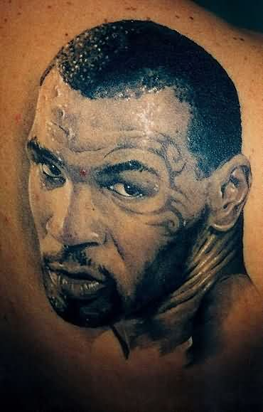 Fabulous Mike Tyson Portrait Tattoo For Men