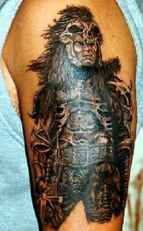 Fabulous Native American Tattoo On Arm