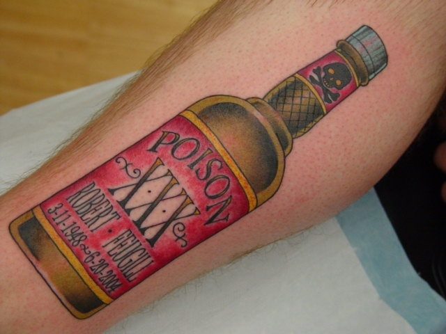 Fabulous Poison Bottle Tattoo