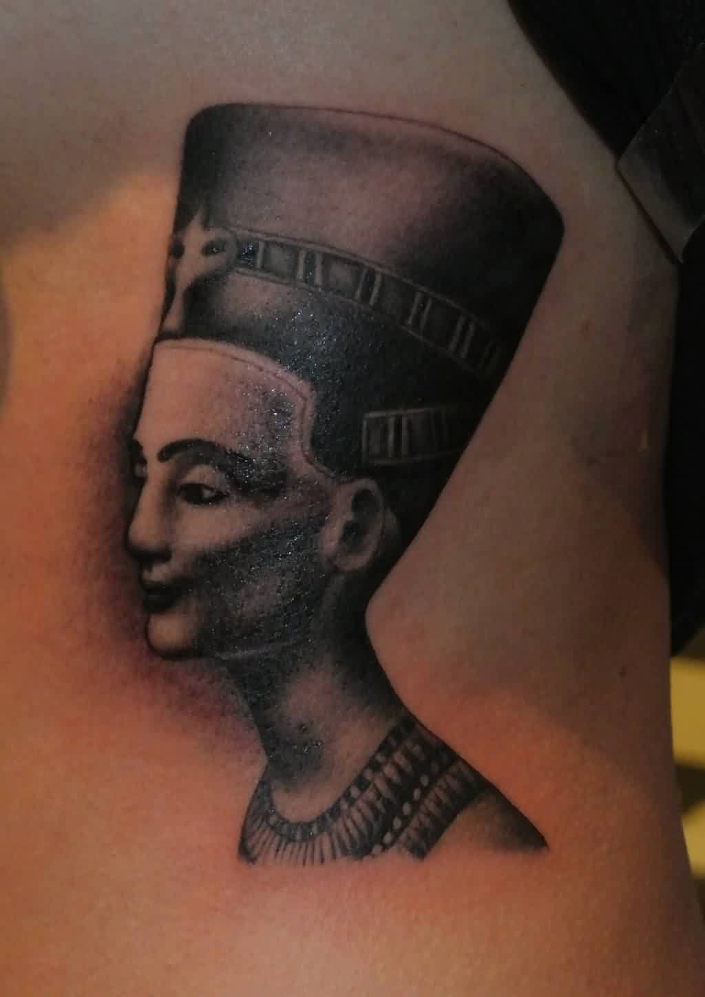 Fabulous Queen Nefertiti Portrait Tattoo