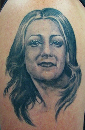 Fabulous Woman Portrait Tattoo