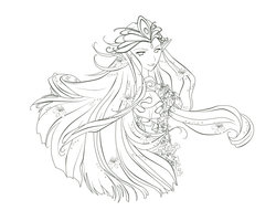 Fairy Queen Tattoo Sketch