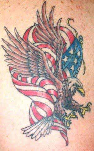 Fantastic American Eagle Tattoo