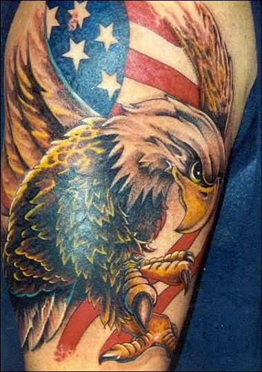 Fantastic American Tattoos On Half Sleeve (2)