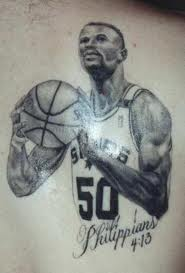 Fantastic Basketball Player Portrait Tattoo