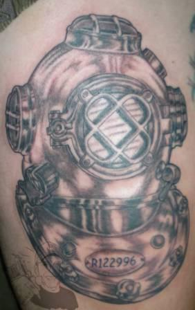 Fantastic Diving Helmet Tattoo