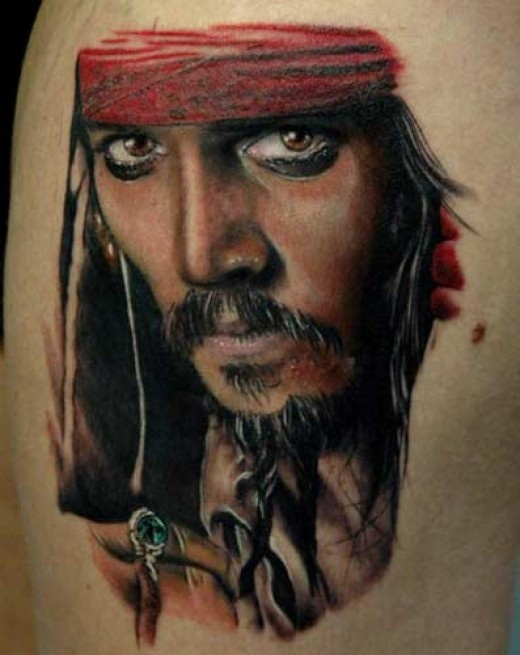 Fantastic Johny Depp Portrait Tattoo