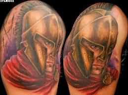 Fantastic Spartan Warrior Portraits Tattoos