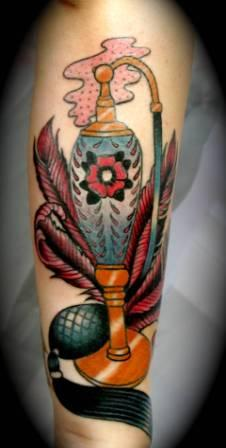 Fantastic Vintage Perfume Bottle Tattoo