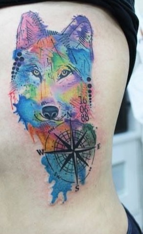 Fantastic Watercolor Tattoos On Ribs