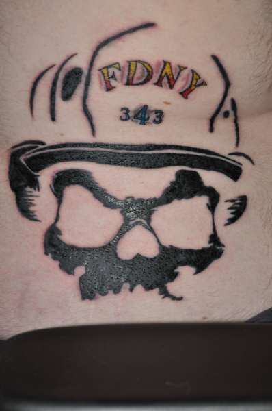 FDNY - Helmet Tattoo