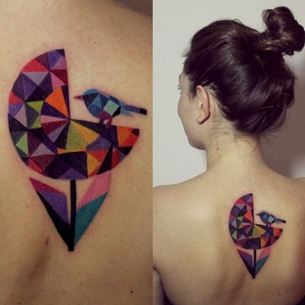 Female With Gorgeous Watercolor Tattoos