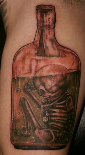 Fetus In Bottle Tattoo