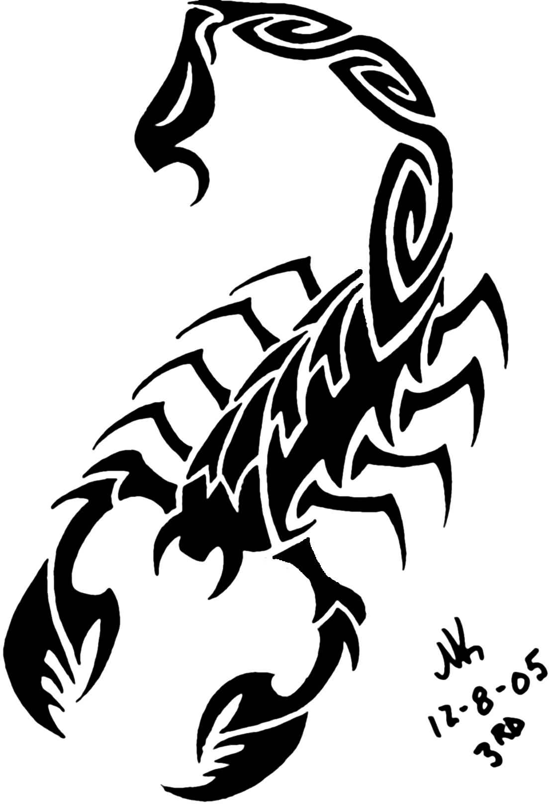 Final Black Scorpion Tattoo Design