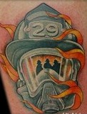 Fire Helmet Tattoo