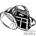Football Player Helmet Tattoo Design