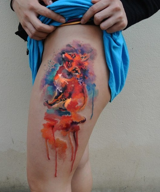 fox-watercolor-tattoo-by-Ondrash