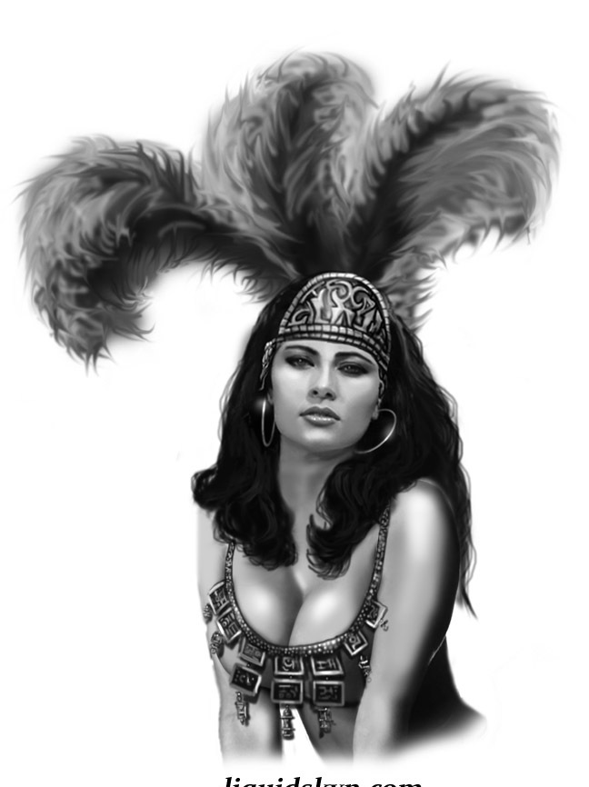 Free Aztec Queen Tattoo Design