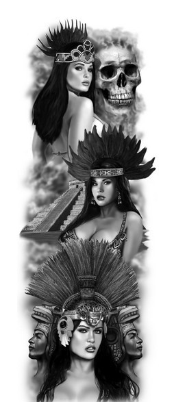 Free Aztec Queen Tattoo Designs
