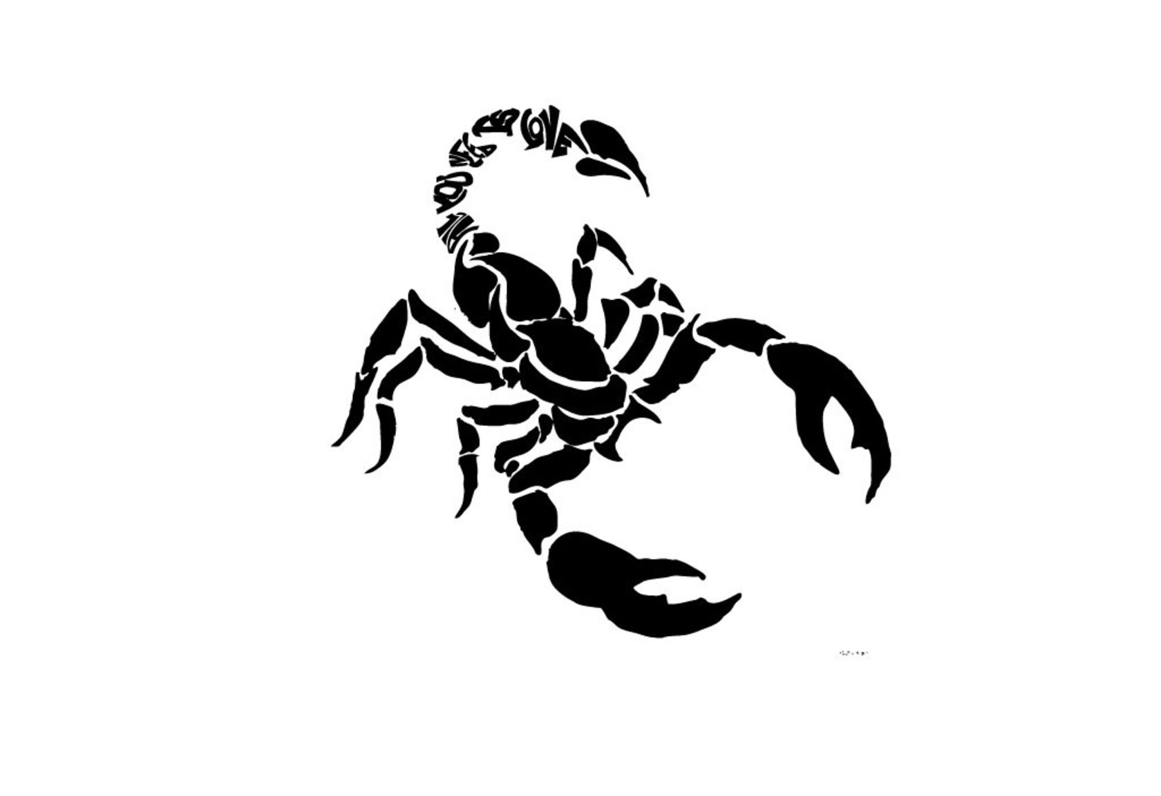 Free Black Scorpion Tattoo Design