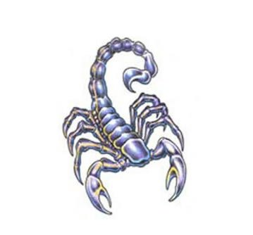 Free Colorful Scorpion Tattoo Design