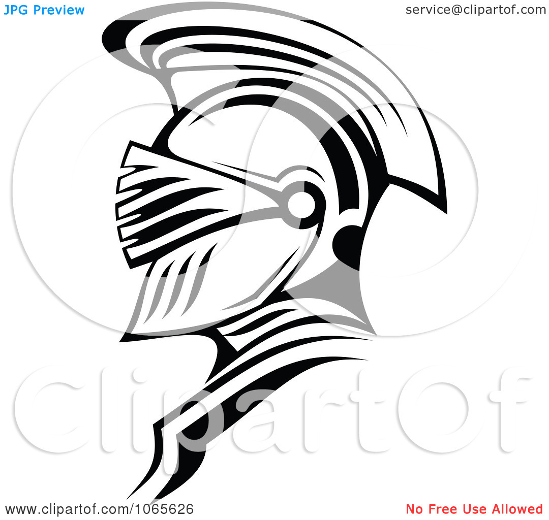 Free Roman Soldier And Helmet Tattoo Design (2)