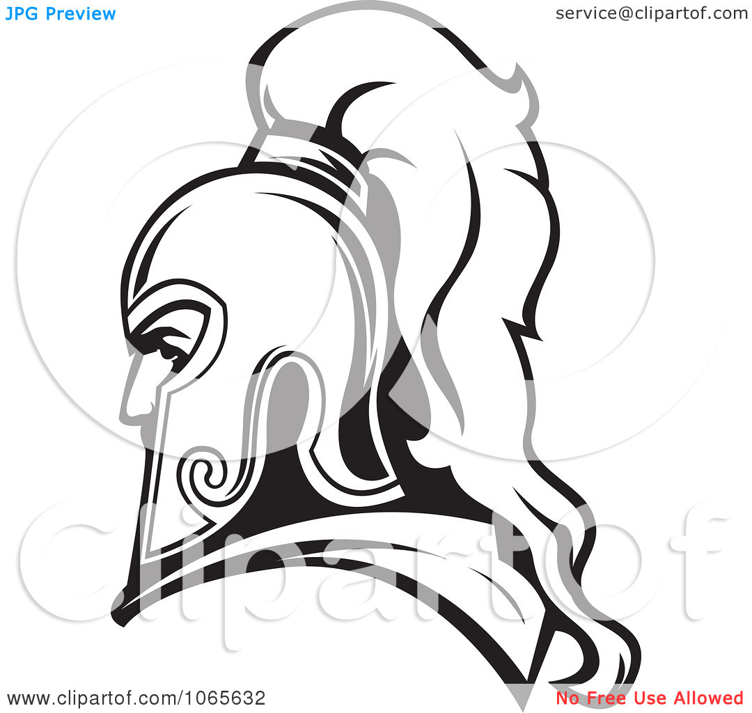 Free Roman Soldier And Helmet Tattoo Design