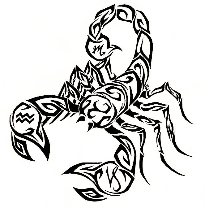Free Scorpion Tribal Tattoo Design