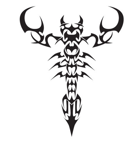 Free Tribal Scorpion Tattoo Version