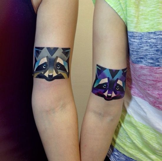 Friends With New Watercolor Wolf Tattoos