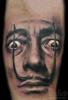 Funny Face Portrait Tattoo