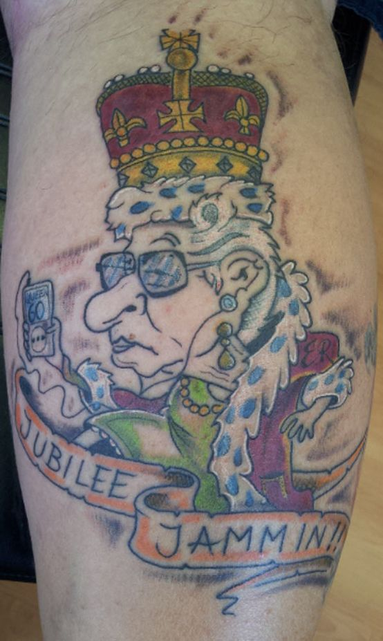 Funny Queen Tattoo