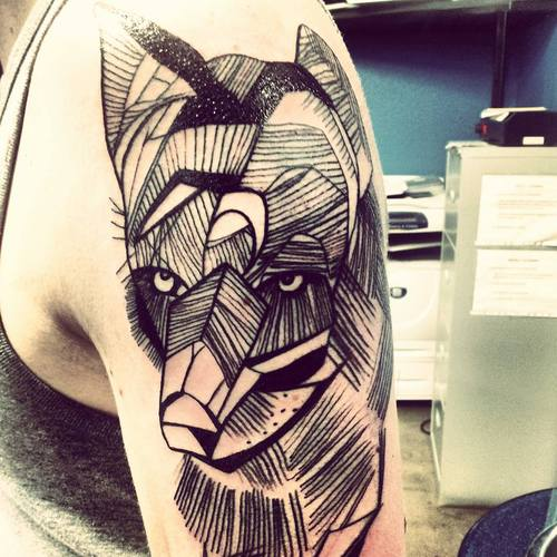 Geometric Animal Tattoo On Arm (2)