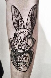 Geometric Animal Tattoo On Arm