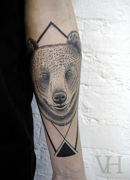 Geometric Animal Tattoo On Forearm