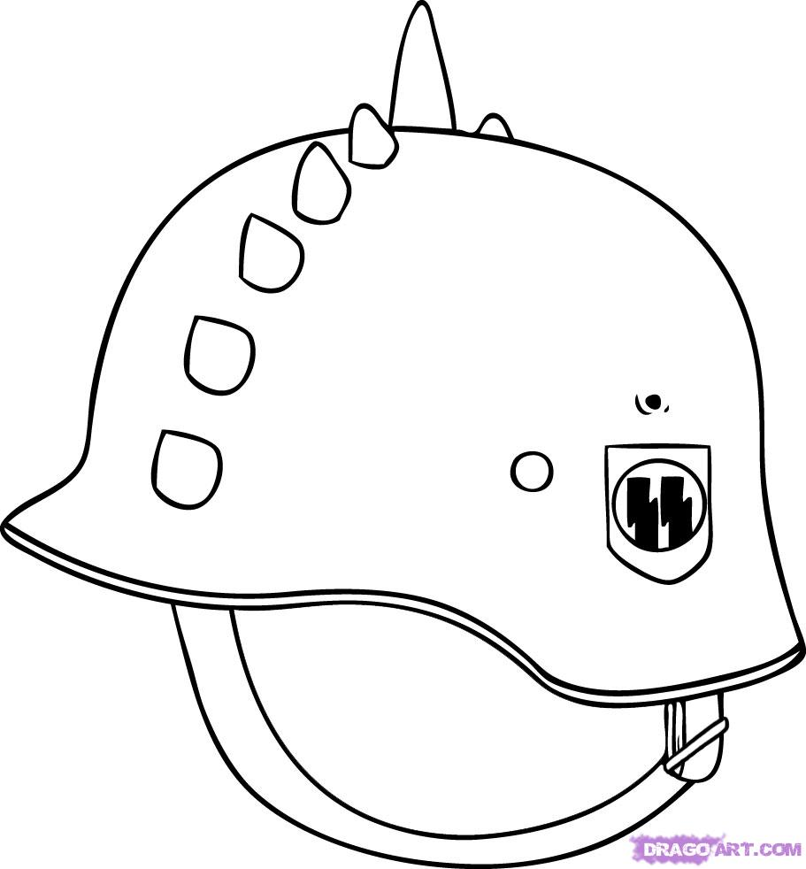 German Helmet Tattoo Sample
