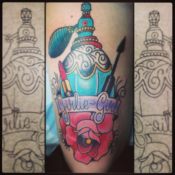 Girlie Girl Bottle Tattoo