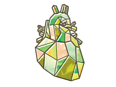 Glass Heart Tattoo Sample