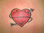 Gorgeous Arrow And Heart Tattoo