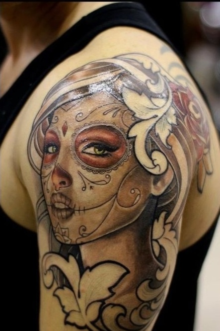 Gorgeous Portrait Tattoo On Shoulder