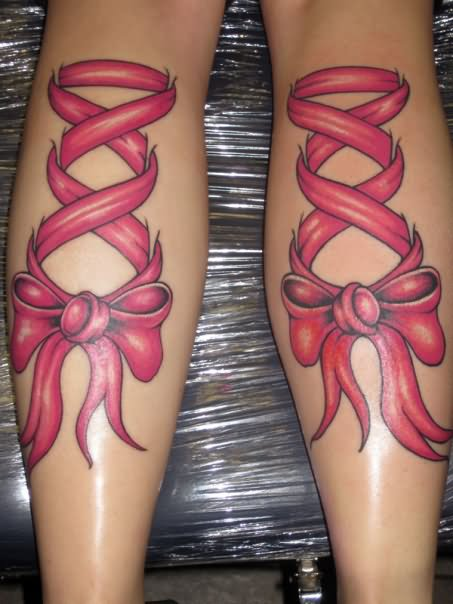 Gorgeous Similar Ribbon Corset Tattoos