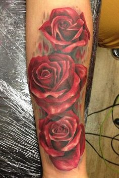 Gorgeous Watercolor Rose Tattoos