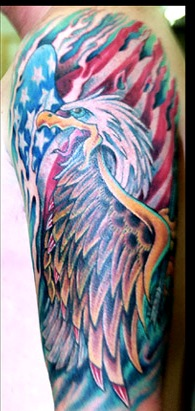 Great American Tattoos On Half Sleeve