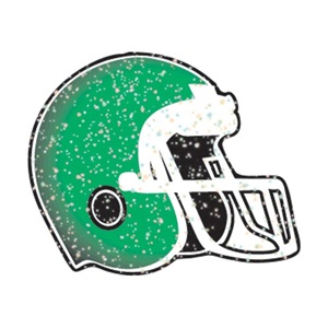 Green Glitter Helmet Tattoo Design
