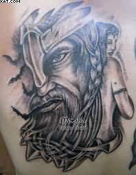 Grey Ink Portrait Tattoos