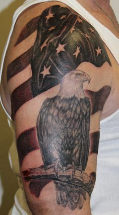 Half Sleeve Of American Tattoos