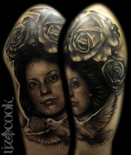 Half Sleeve Of Portrait Tattoos (2)