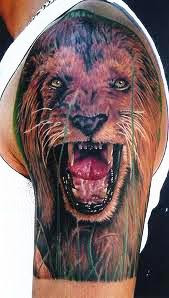 Half Sleeve Of Wild Animal Tattoo